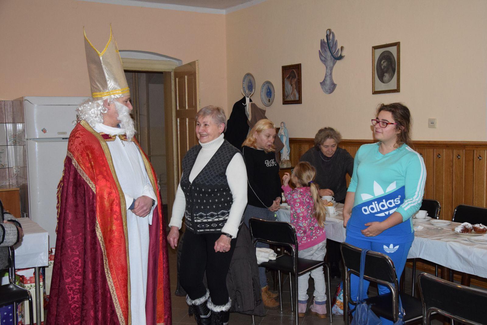 Wizyta Mikołaja w parafii