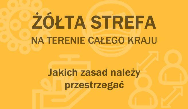Uwaga! Od 10 października żółta strefa w całej Polsce !!