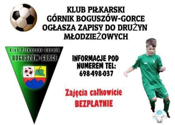 Trwają zapisy do drużyn młodzieżowych Górnik Boguszów-Gorce