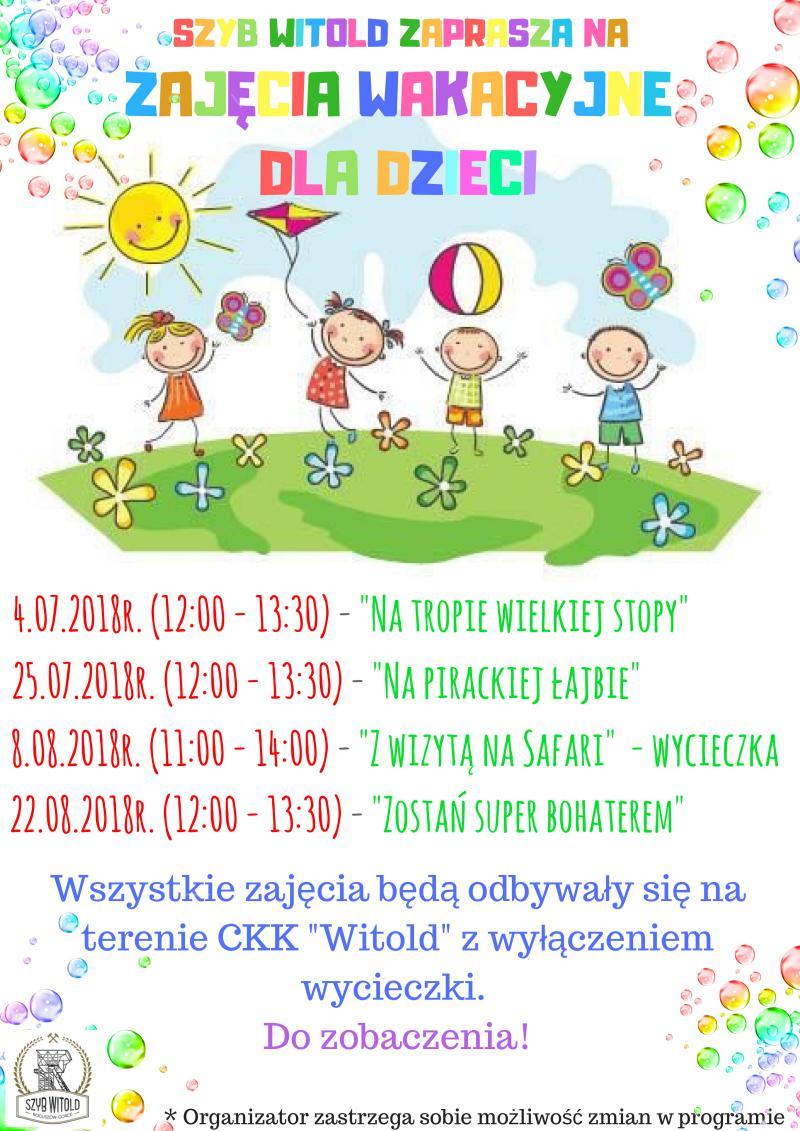 Wakacyjne zajęcia dla dzieci na Witoldzie