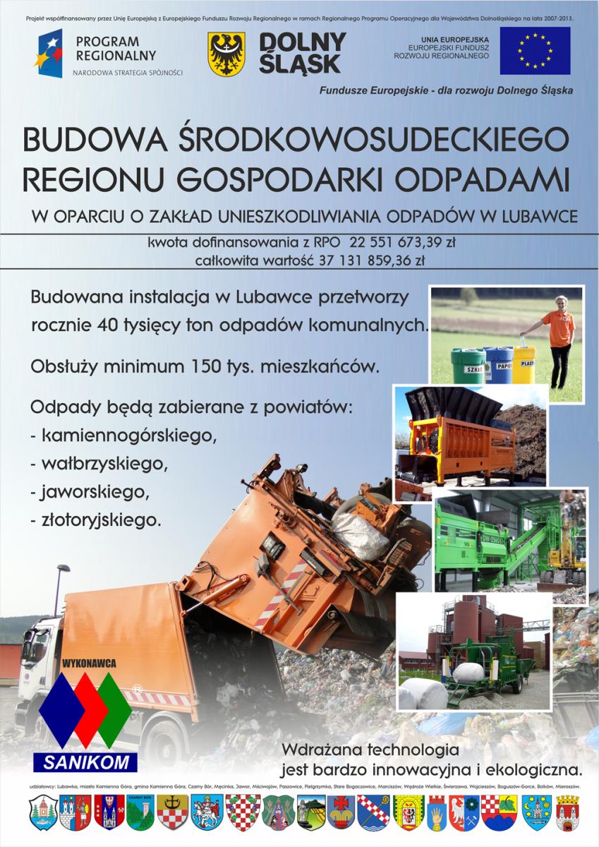 Budowa Środkowosudeckiego Regionu Gospodarki Odpadami