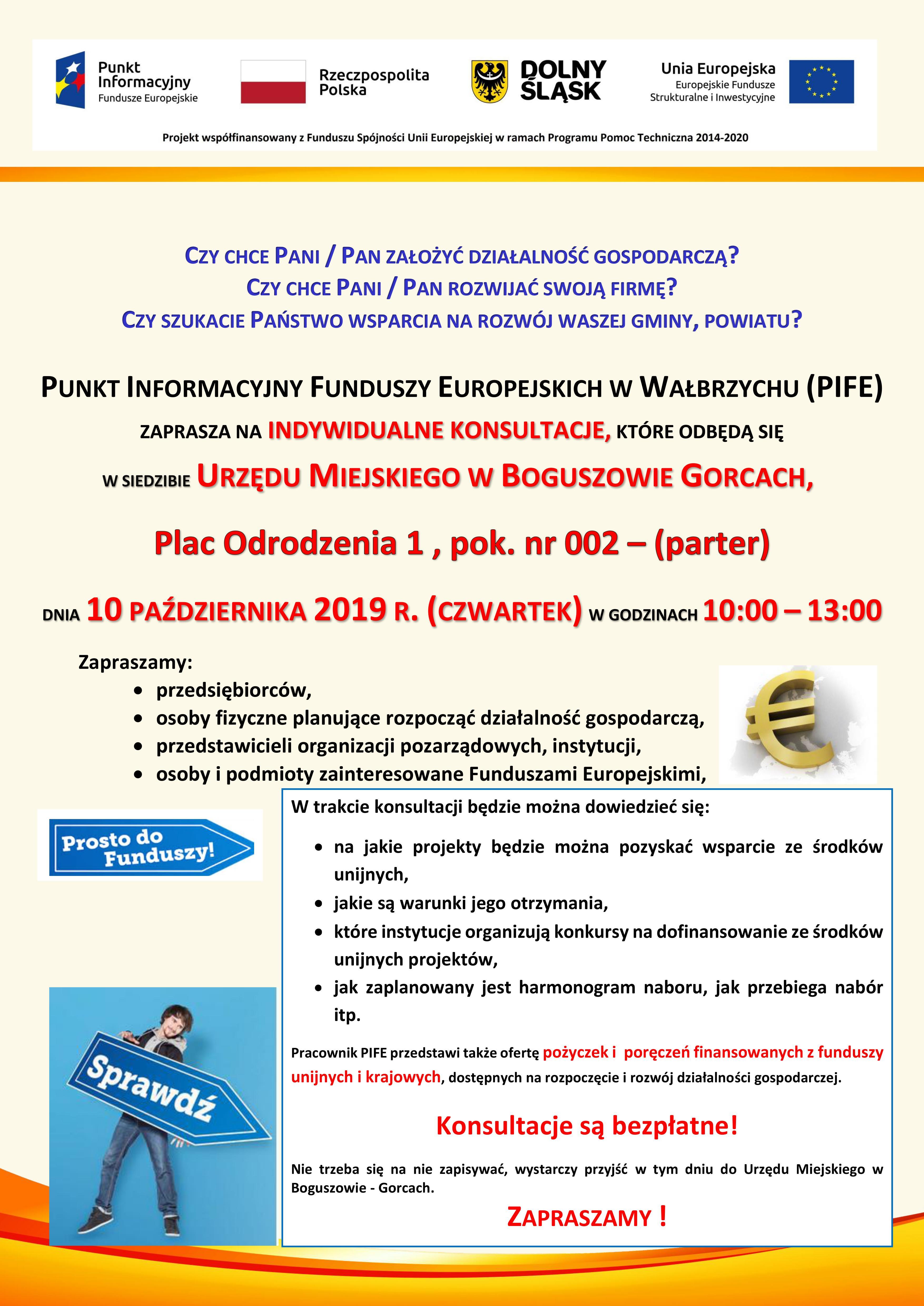 Indywidualne konsultacje - Fundusze Europejskie