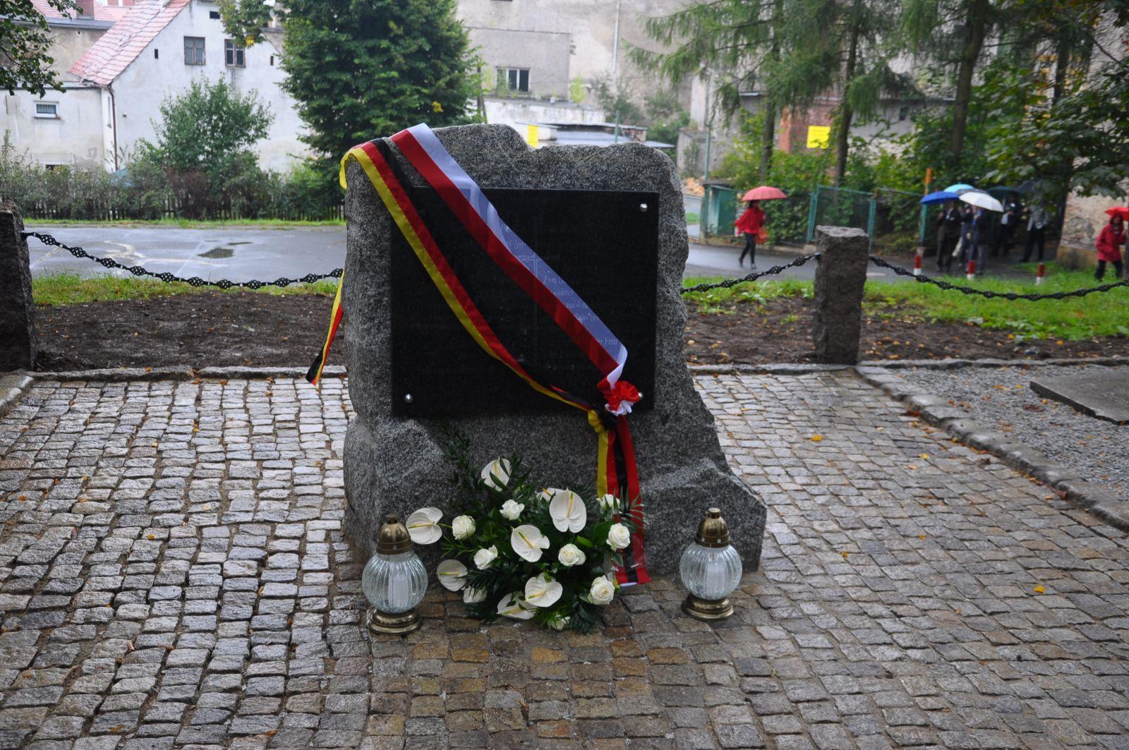 Uroczystości na byłym cmentarzu ewangelickim