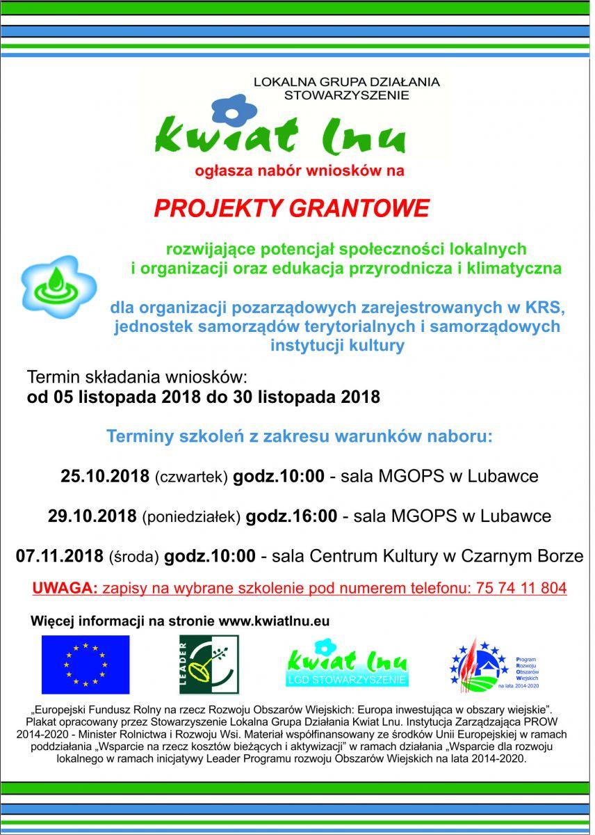 Konkurs grantowy dla organizacji pozarządowych, domów kultury, bibliotek i gmin