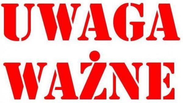 UWAGA! - Informacja o dniu wolnym