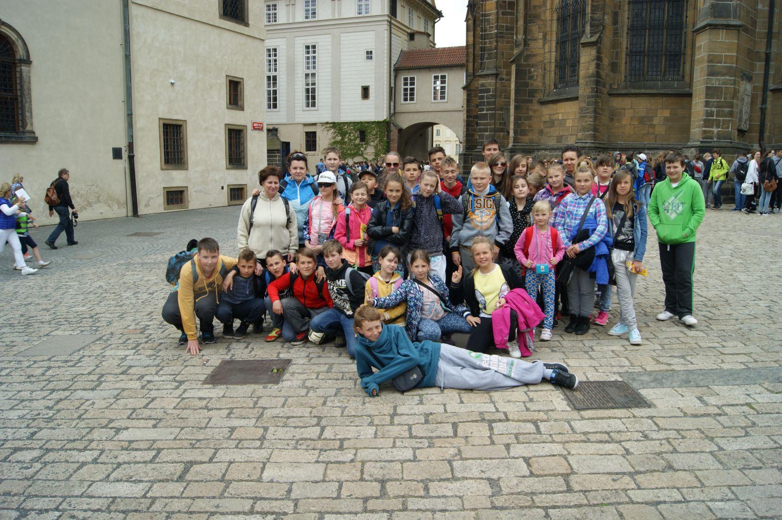 Zwiedzali Pragę;)