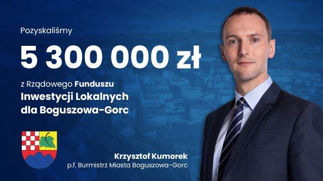 5,3 mln złotych rządowego wparcia na inwestycje