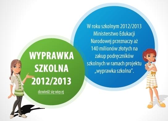 Wyprawka szkolna 2012/2013