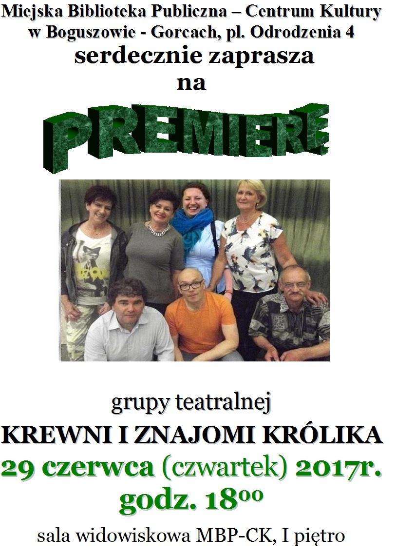 Krewni i znajomi królika - premiera!