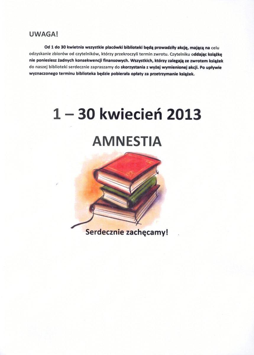 Uwaga! Amnestia!