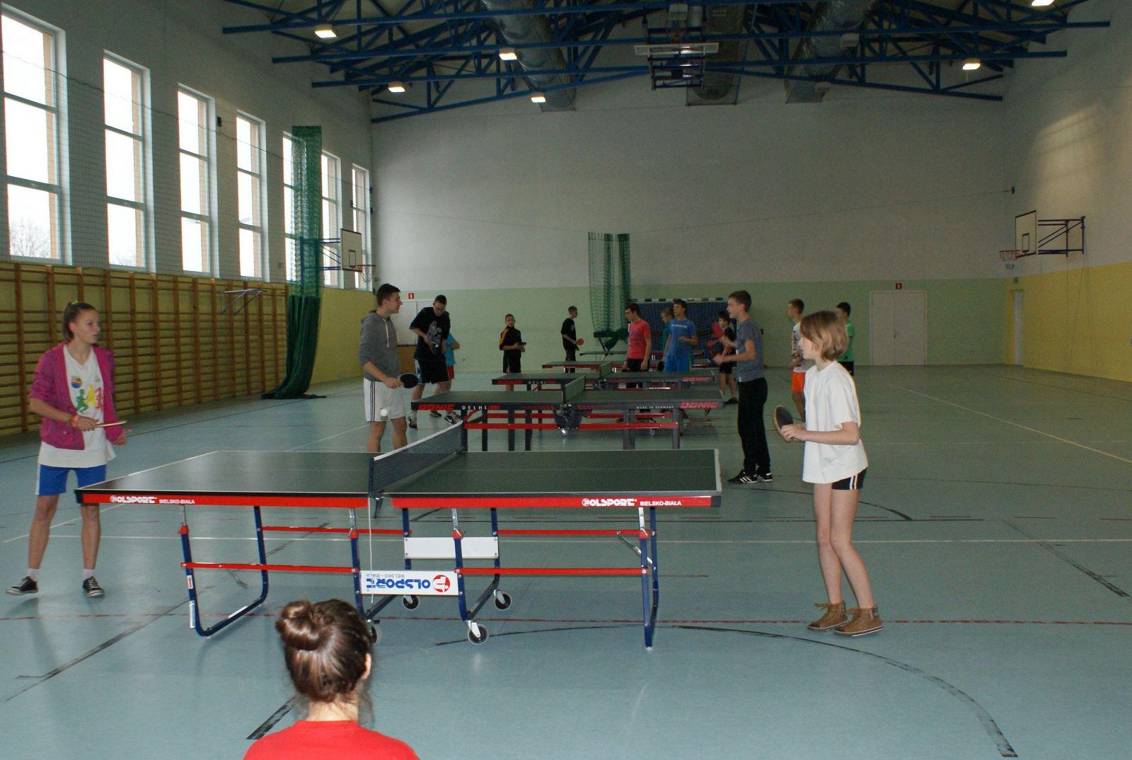 Polsko-Czeski Turniej Tenisa Stołowego w Gimnazjum Nr 1