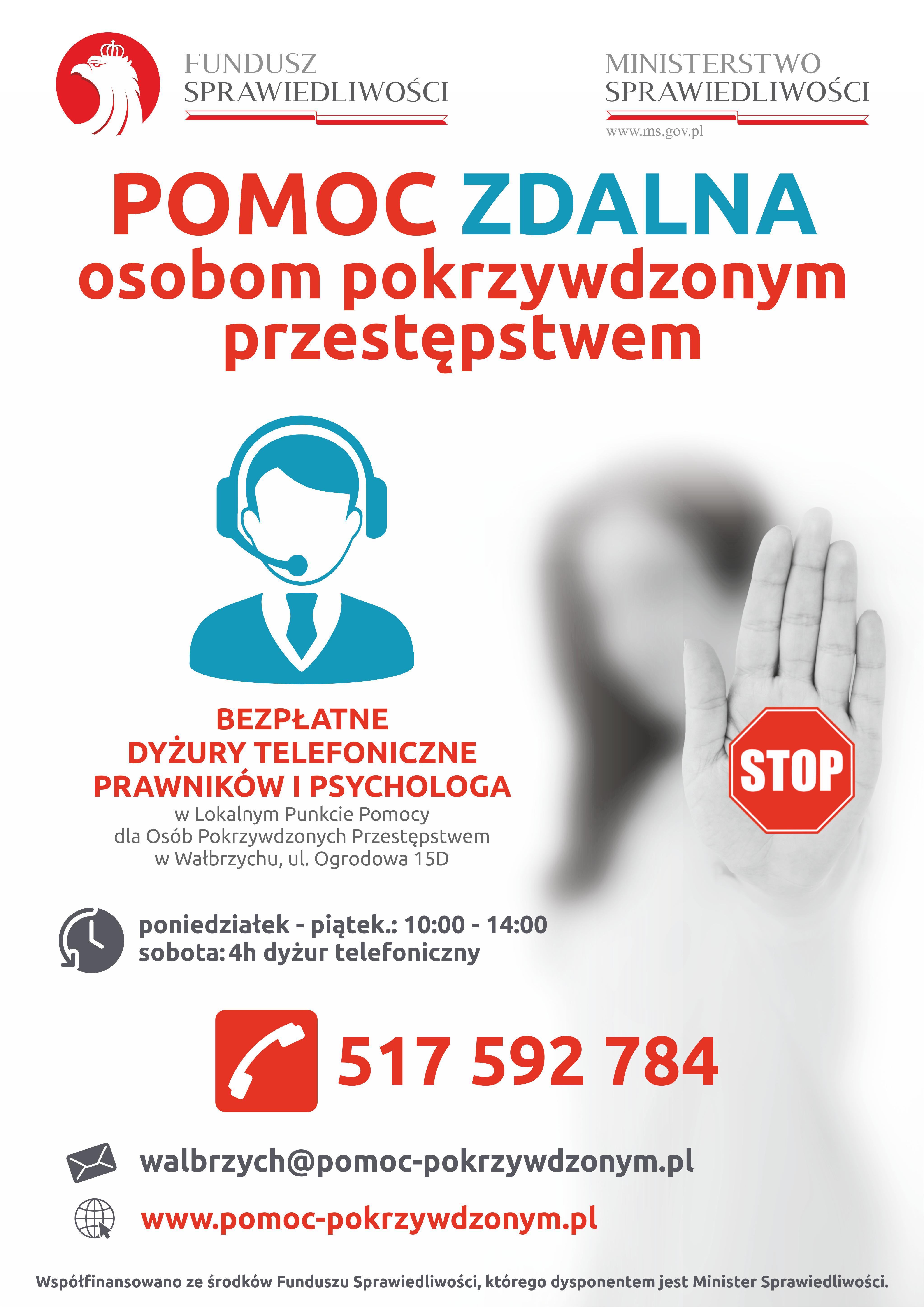 Pomoc zdalna osobom pokrzywdzonym przestępstwem