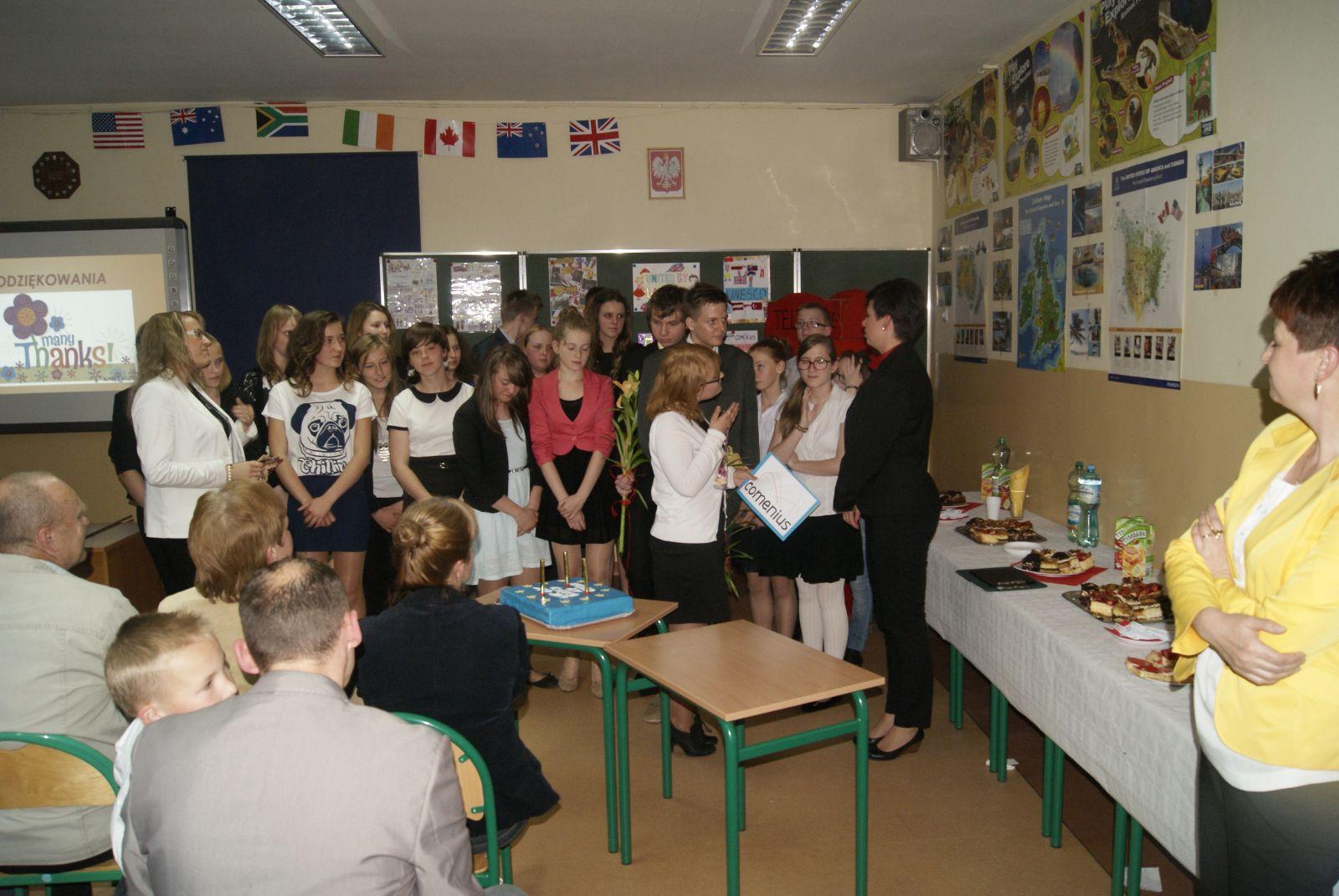 Uroczystość zakończenia projektu United by UNESCO Programu Comenius w ZSS Boguszów-Gorce