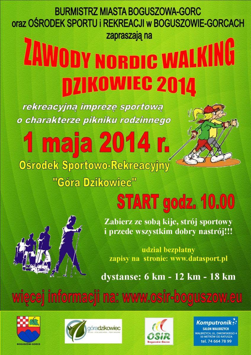 Zawody NORDIC WALKING DZIKOWIEC 2014