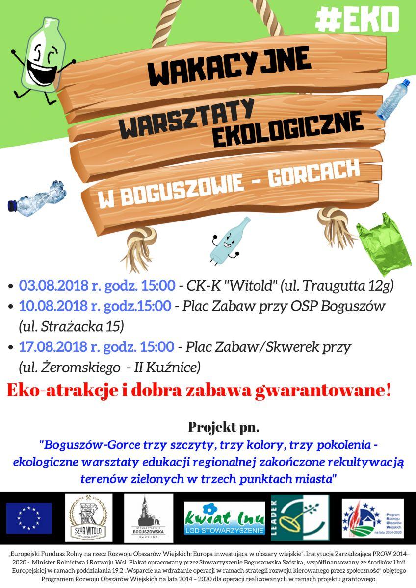 Wakacyjne warsztaty ekologiczne w Boguszowie-Gorcach