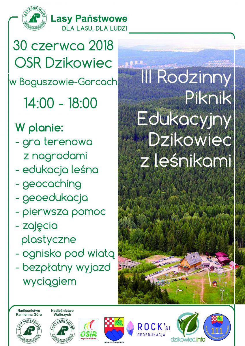 Wakacje w Boguszowie-Gorcach zaczynamy Piknikiem z Leśnikami ...