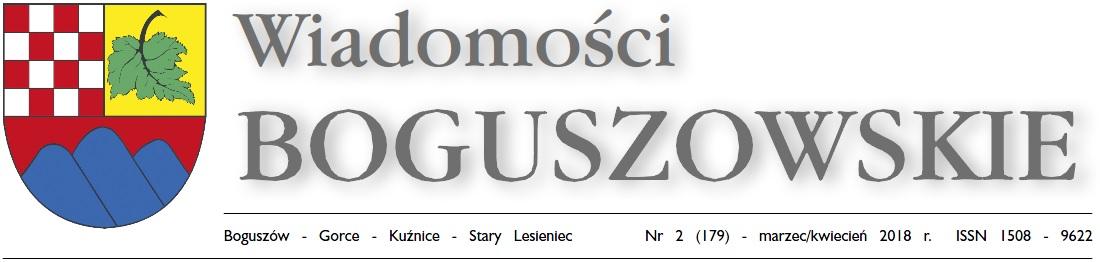 Wiadomości Boguszowskie - marzec/kwiecień 2018