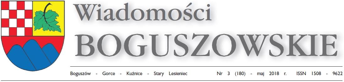 Wiadomości Boguszowskie - maj 2018