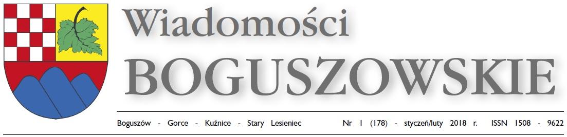 Wiadomości Boguszowskie - styczeń/luty 2018