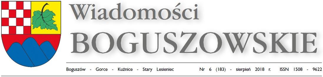 Wiadomości Boguszowskie - sierpień 2018