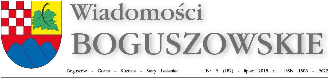 Wiadomości Boguszowskie - lipiec 2018